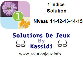 1 indice solution niveau 11-12-13-14-15