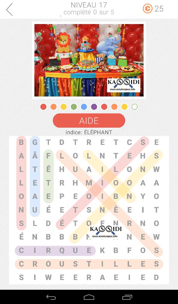 10x10 mots cachés niveau 17 jeu