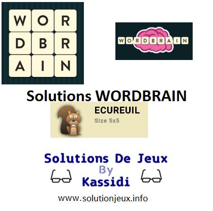 19 wordbrain ecureuil solutions