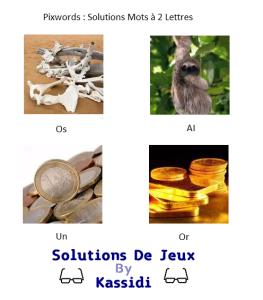 Pixwords solutions mots à 2 lettres
