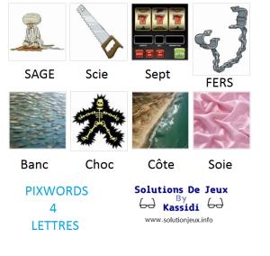 Pixwords solutions mots à 4 lettres info 13