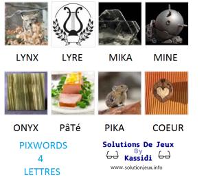 Pixwords solutions mots à 4 lettres info 20