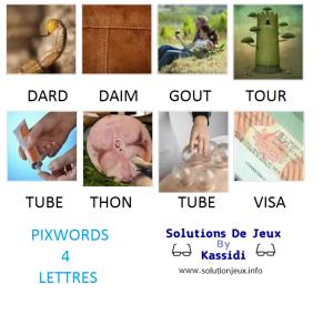 Pixwords solutions mots à 4 lettres info 22