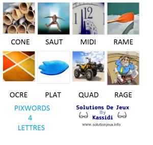 Pixwords solutions mots à 4 lettres info 25