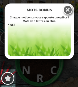 Mots Bonus Jardin des Mots