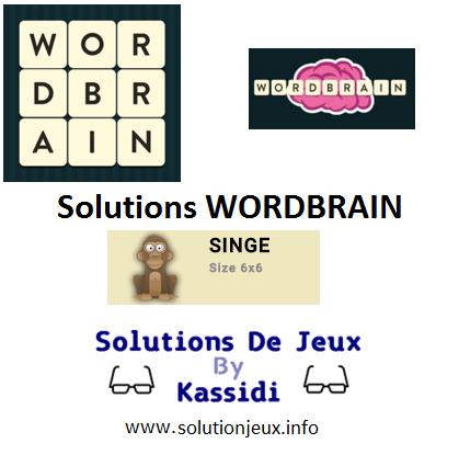 21 wordbrain singe solutions