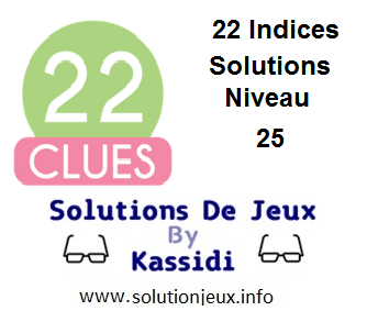 22 indices Niveau 25 Solutions