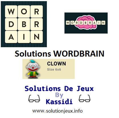 23 wordbrain clown solutions