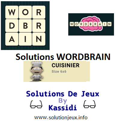26 wordbrain cuisinier solutions
