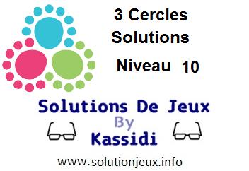 3 cercles niveau 10 solutions