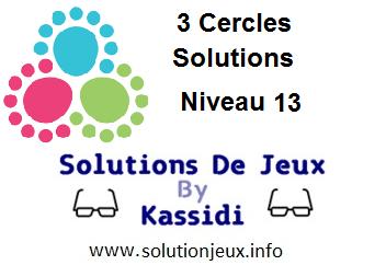 3 cercles niveau 13 solutions