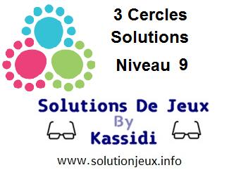 3 cercles niveau 9 solutions