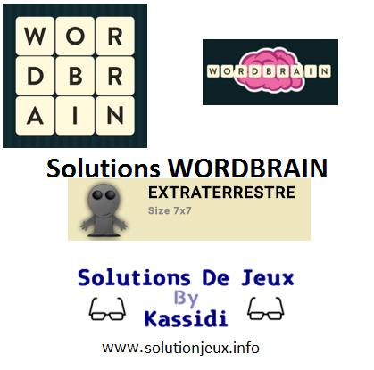 31 wordbrain extraterrestre solutions