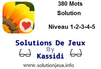 380 Mots niveau 1-2-3-4-5 solution