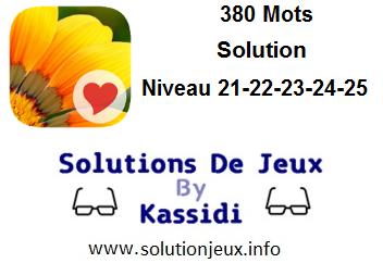 380 Mots niveau 21-22-23-24-25 solution