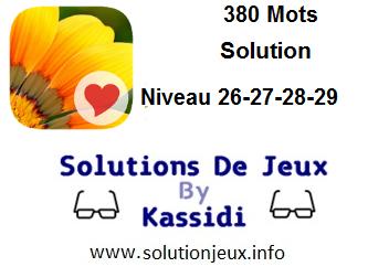 380 Mots niveau 26-27-28-29 solution
