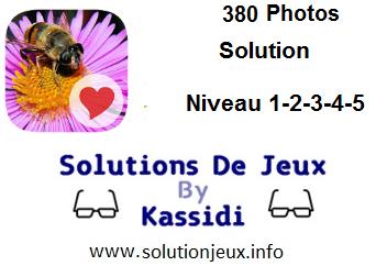 380 Photos niveau 1-2-3-4-5 solution