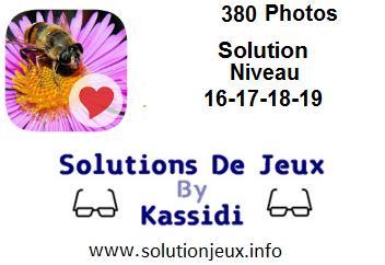 380 Photos niveau 16-17-18-19 solution