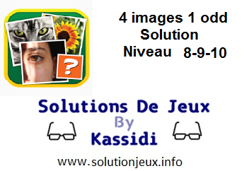 4 images 1 odd niveau 8-9-10 Solution