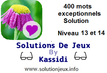 400 Mots exeptionnels niveau 13 et 14 solution