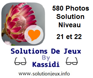 580 Photos Solution Niveau 21 et 22