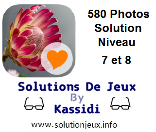 580 Photos Solution Niveau 7 et 8