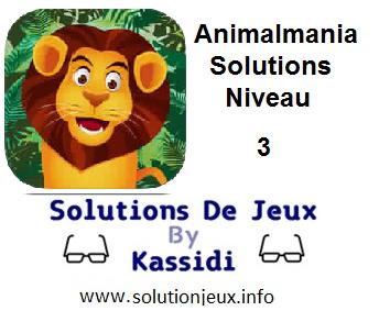 Animalmania Niveau 3 Solutions