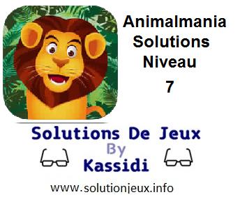 Animalmania Niveau 7 Solutions