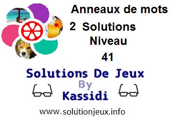 Anneaux de Mots 2 Niveau 41 Solutions