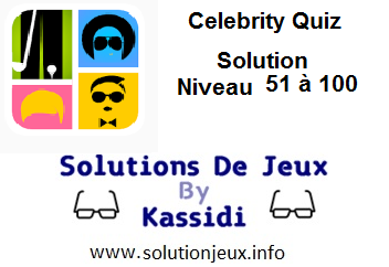 Celebrity Quiz Bubbles niveau 51 - 100
