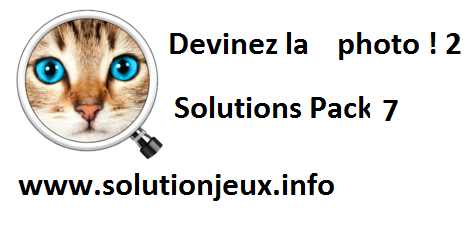 Devinez la photo 2 pack 7 solutions