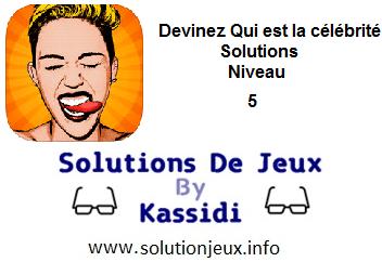 Devinez qui est la célébrité Niveau 5 Solutions