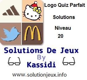 Logo quiz parfait réponse niveau 20