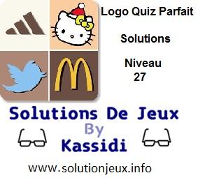Logo quiz parfait réponse niveau 27