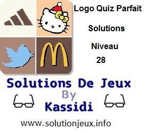 Logo quiz parfait réponse niveau 28