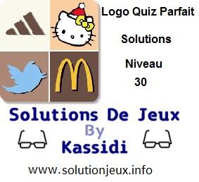 Logo quiz parfait réponse niveau 30