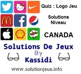 Quiz Logo Jeu Niveau Canada Solutions