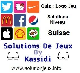 Quiz Logo Jeu Niveau Suisse Solutions