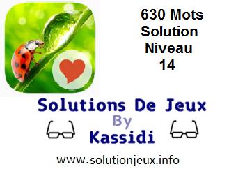 Solution 630 Mots Niveau 14