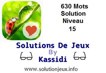 Solution 630 Mots Niveau 15