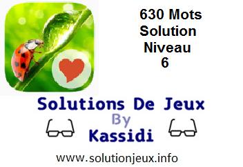 Solution 630 Mots Niveau 6