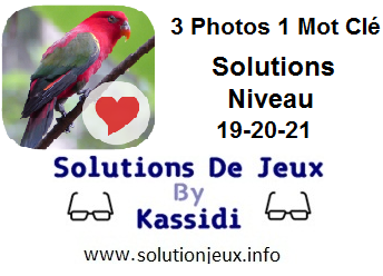 Solutions 3 photos 1 mot clé 19-20-21