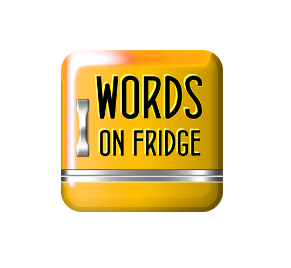 solution words on fridge
