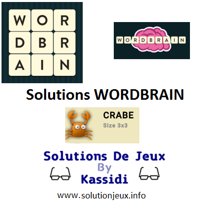 wordbrain pack crabe solutions