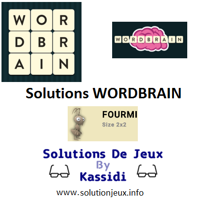 wordbrain pack fourmi solutions